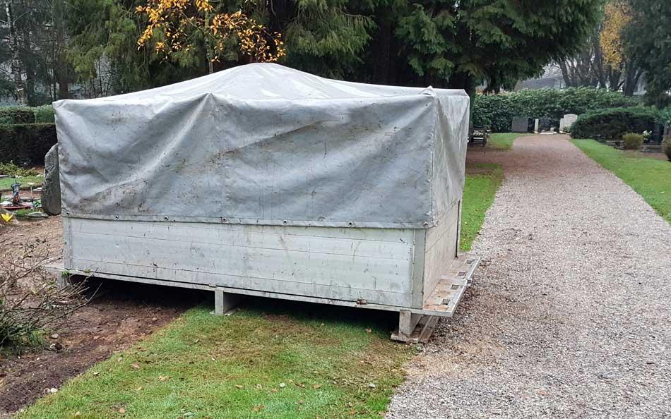 Afdekhoes Grondopslagcontainer Begraafplaats