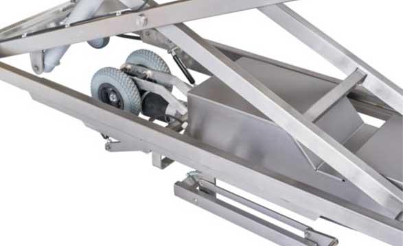 Hoog Laagwagen Hefwagen Electrisch Aandrijfmotor Detail
