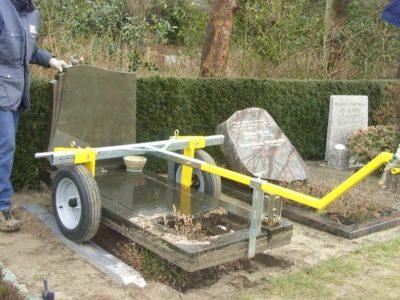Stenenlichter Grafmonumenten Grafsteen Verwijderen