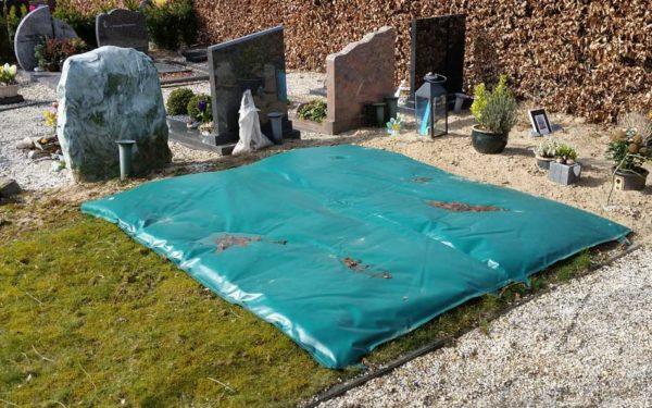 Vorst Afdekdeken Bevroren Begraafplaats