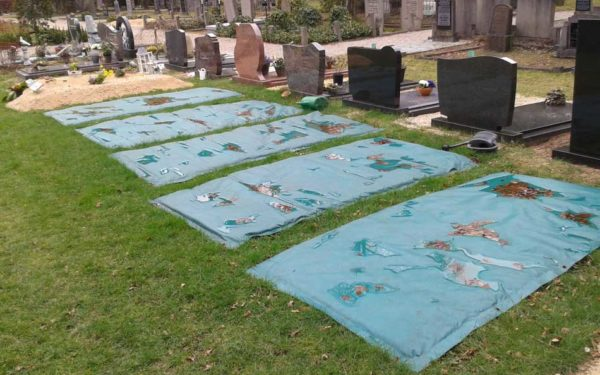 Vorst Afdekdeken Bevroren Begraafplaats Diverse Graven